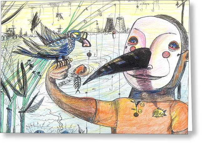 Power Plants Greeting Cards - Fish Whistle Greeting Card by Robert Wolverton Jr