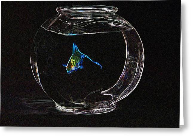 Fishbowl Greeting Card by Tim Allen