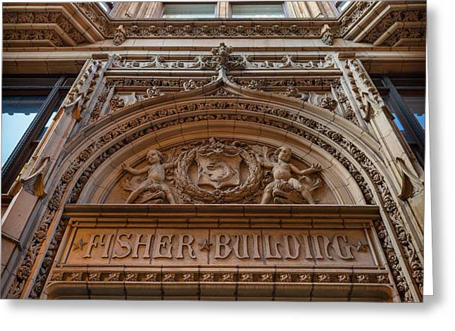 Fisher Building Chicago Greeting Card by Steve Gadomski