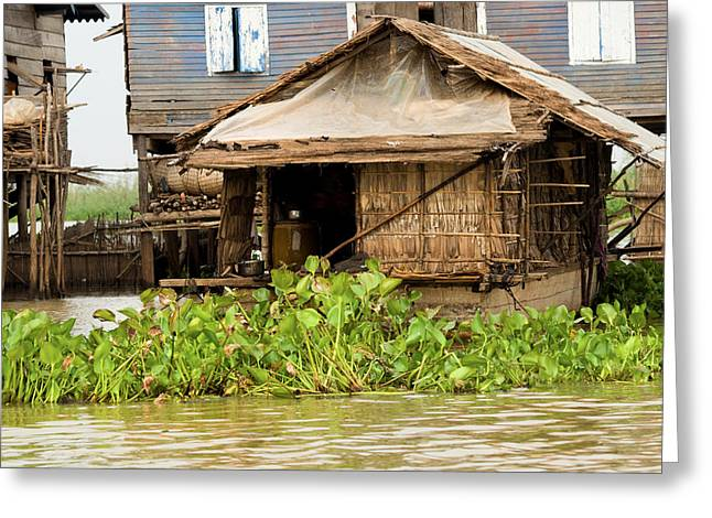 Bamboo House Greeting Cards - Fisherman Boat House Greeting Card by Artur Bogacki