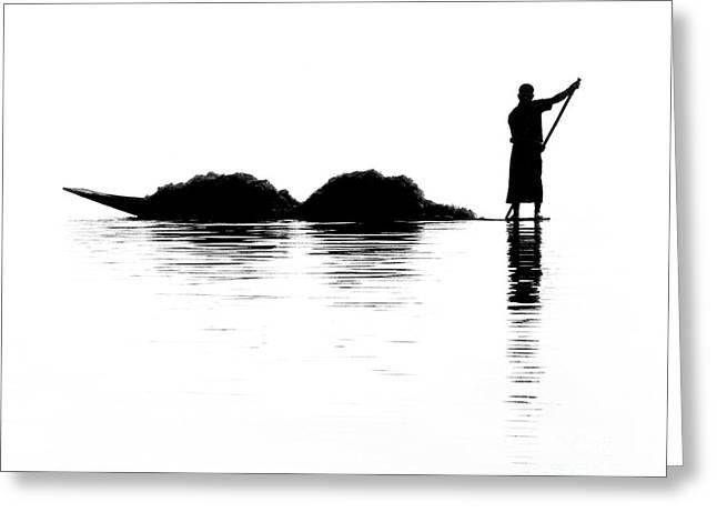 Kate Mckenna Greeting Cards - Fisherman Greeting Card by Kate McKenna