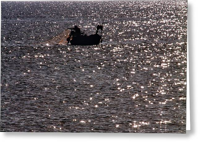 Angling Photographs Greeting Cards - Fisherman Greeting Card by Stylianos Kleanthous
