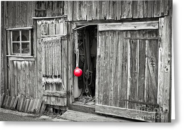Shed Photographs Greeting Cards - Fishermans Shed Greeting Card by Lutz Baar