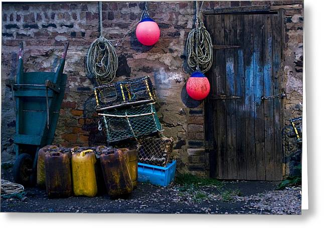 Lobster Bouys Greeting Cards - Fishermans Supplies Greeting Card by John Short