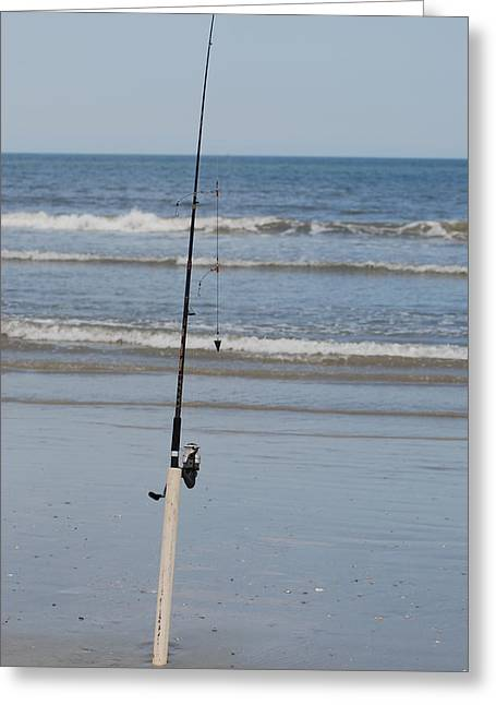 Surfcast Greeting Cards - Fishin Greeting Card by De Behr