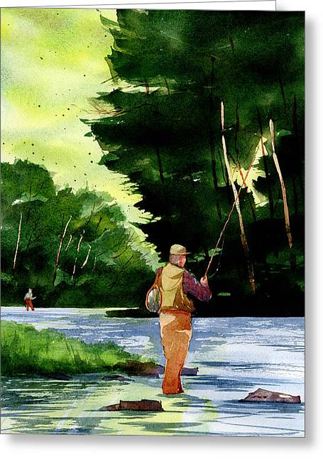 Fishin' The Hatch Greeting Card by Jeff Mathison