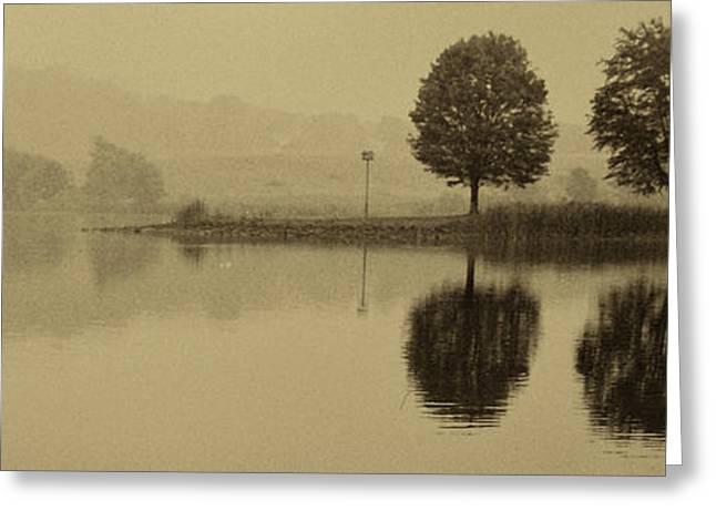 Fishing Creek Greeting Cards - Fishing At Marsh Creek State Park Pa. Greeting Card by Jack Paolini