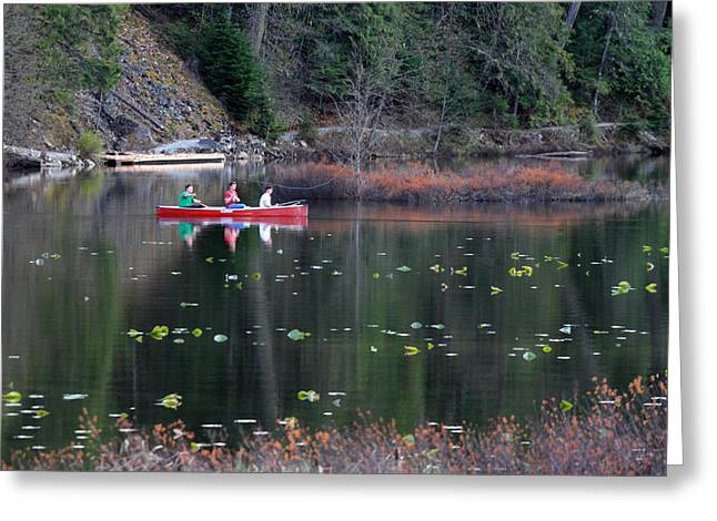 Mile One Greeting Cards - Fishing at One Mile Lake Pemberton Greeting Card by Pierre Leclerc Photography