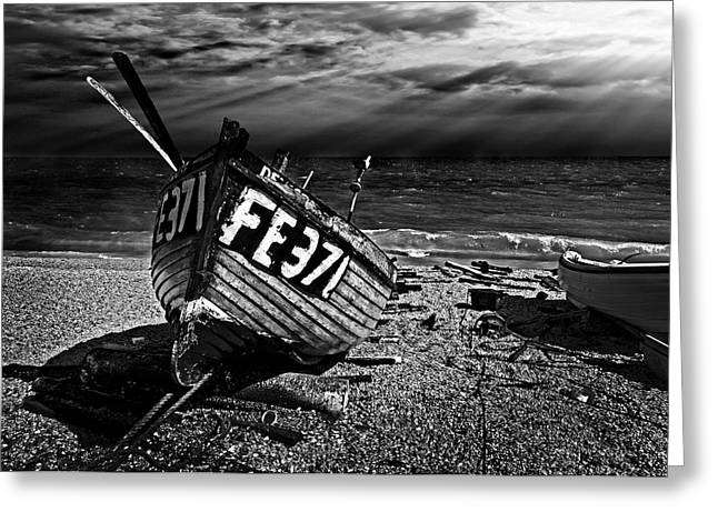 fishing boat FE371 Greeting Card by Meirion Matthias
