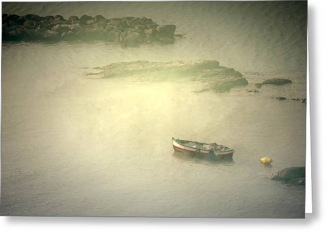 Enigmatic Greeting Cards - Fishing Boat Greeting Card by Joana Kruse