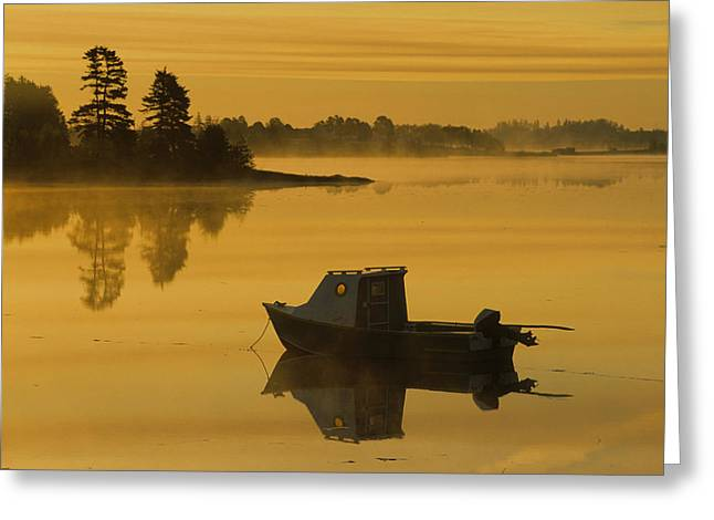 Mayfield Greeting Cards - Fishing Boat, Mayfield, Prince Edward Greeting Card by John Sylvester