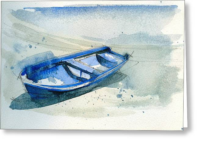 Fishing Boat Greeting Card by Stephanie Aarons