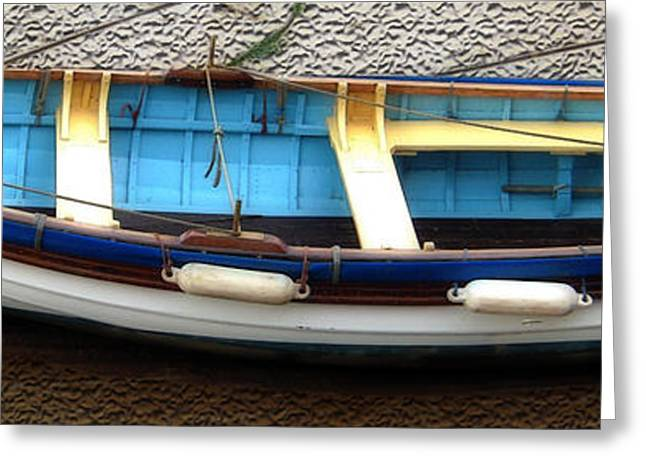 One Sailboat Greeting Cards - Fishing Boat Greeting Card by Svetlana Sewell
