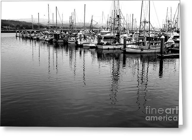 Sailboat Photos Greeting Cards - Fishing Boats . 7D8187 Greeting Card by Wingsdomain Art and Photography