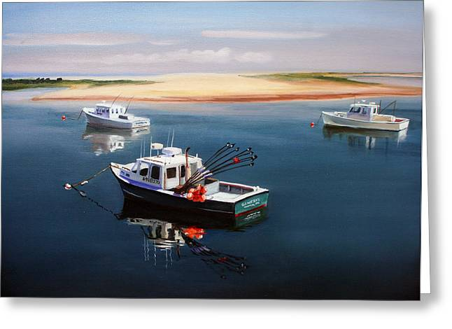 Harwich Greeting Cards - Fishing Boats-cape Cod Greeting Card by Paul Walsh