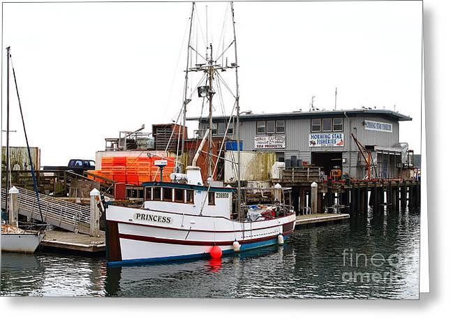 Fishing Boats In Pillar Point Harbor At Half Moon Bay California . 7d8210 Greeting Card by Wingsdomain Art and Photography