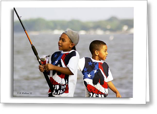 Fishing Brothers Greeting Card by Brian Wallace