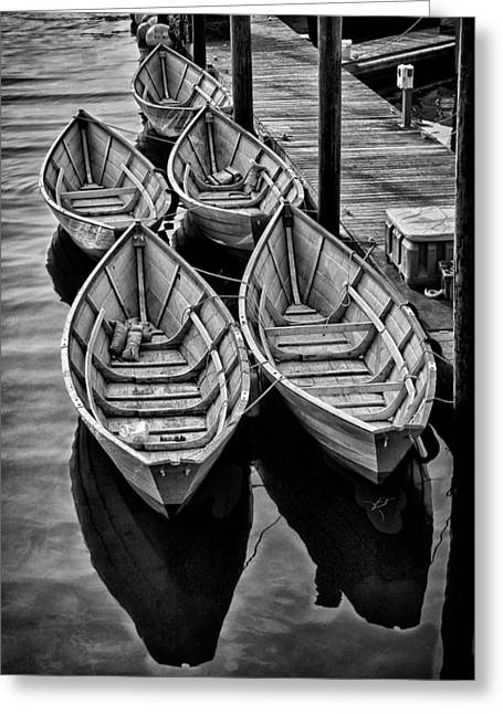 Schooner Greeting Cards - Fishing Dories Greeting Card by Fred LeBlanc