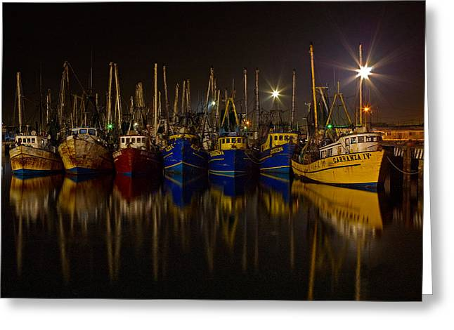 Reflection In Water Greeting Cards - Fishing Fleet in Mexico Greeting Card by Stephan Kolb