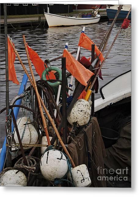 Habor Greeting Cards - Fishing gear Greeting Card by Wedigo Ferchland