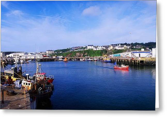 Fishing Harbour, Dunmore East, Ireland Greeting Card by The Irish Image Collection