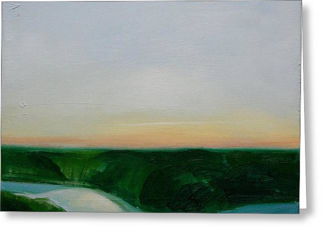 Fishing In The Midnight Sun. Greeting Card by Ingimar Waage