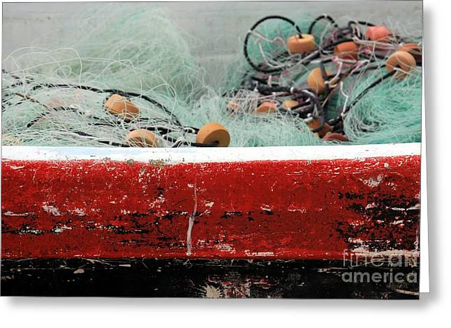 """""""still Life Photographs"""" Greeting Cards - Fishing Net Greeting Card by Sophie Vigneault"""
