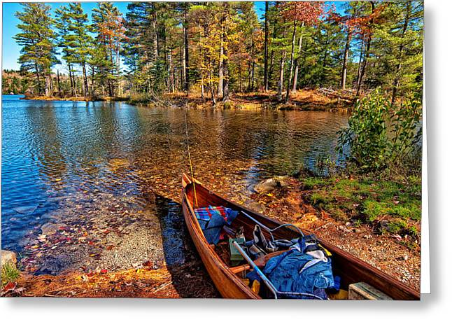 Fishing On Lowell Lake Greeting Card by Linda Pulvermacher