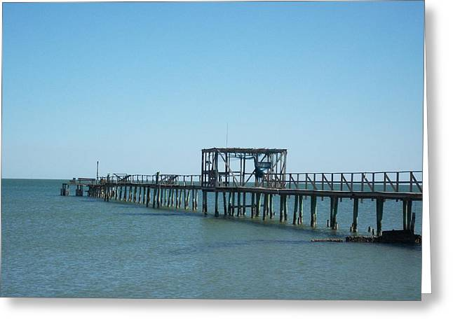 Ocean Landscape Greeting Cards - Fishing Pier I Greeting Card by Chris Andruskiewicz
