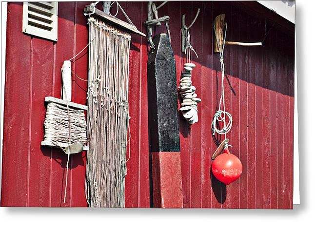 Old Fishing Gear Greeting Cards - Fishing Shack Greeting Card by Robert Cabrera