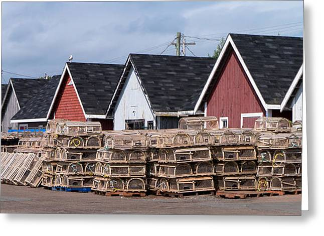 Shack Greeting Cards - Fishing Shacks PEI Greeting Card by Edward Fielding