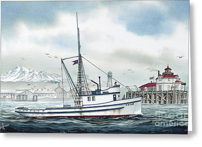 Fishing Art Cards Greeting Cards - Fishing Vessel TANA Greeting Card by James Williamson