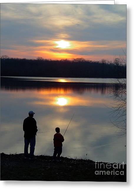 Pastimes Greeting Cards - Fishing Greeting Card by Vilas Malankar