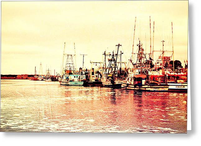 Morro Bay Greeting Cards - Fishing Village Greeting Card by Heidi Smith