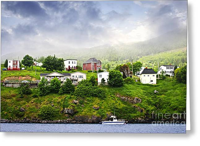 Fishing Village In Newfoundland Greeting Card by Elena Elisseeva