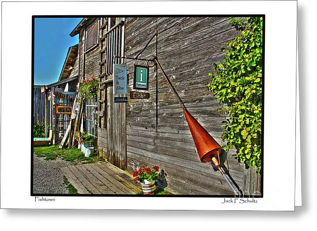 Leland Greeting Cards - Fishtown Greeting Card by Jack Schultz