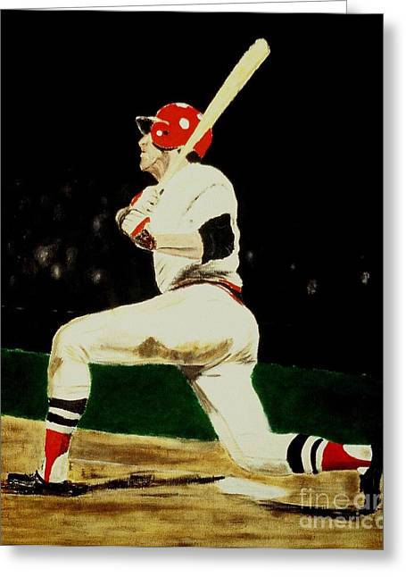 Carlton Fisk Greeting Cards - Fisk Greeting Card by Ralph LeCompte