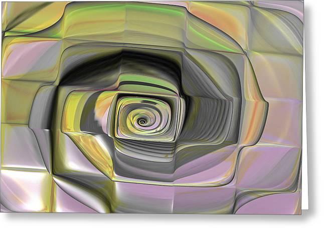 Geometric Digital Art Greeting Cards - Fit Into The Box Greeting Card by Deborah Benoit
