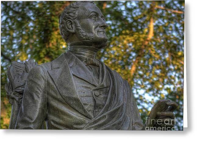 Equestrian Commissions Greeting Cards - Fitz Greene Halleck in Central Park II Greeting Card by Lee Dos Santos