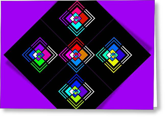 Processor Digital Greeting Cards - Five Greeting Card by Charles Stuart