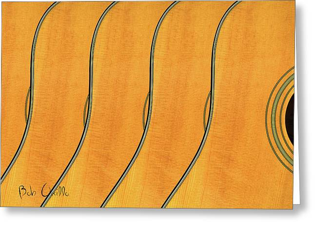 Reiki Greeting Cards - Five Fender Guitars Greeting Card by Bob Orsillo