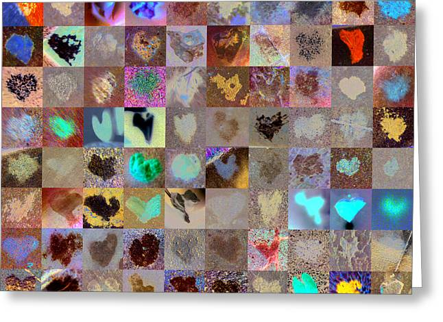 Heart Images Greeting Cards - Five Hundred Series Greeting Card by Boy Sees Hearts