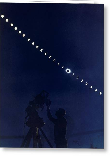 Astronomical Research Greeting Cards - Five-minute-interval Photographs Show Greeting Card by Laird S. Brown