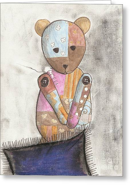 Patch Work Greeting Cards - Fix Me Greeting Card by Syvanah  Bennett