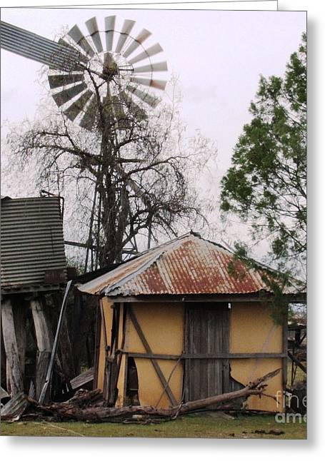 Farm Stand Greeting Cards - Fixer-Upper Greeting Card by Therese Alcorn