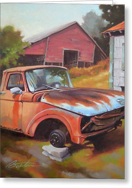 Old Trucks Greeting Cards - Fixer Upper Greeting Card by Todd Baxter