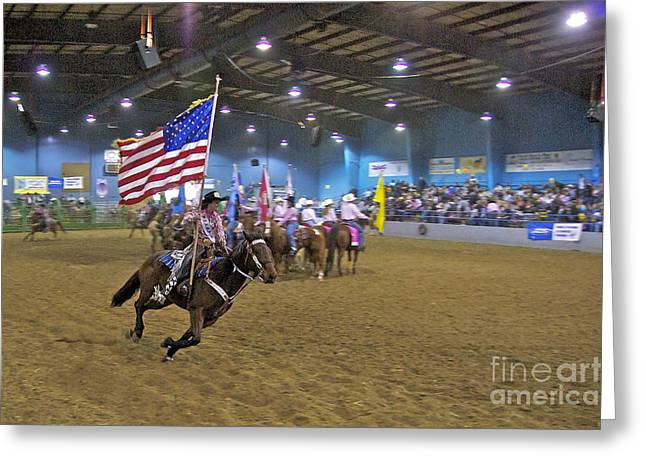 Sean Horse Greeting Cards - Flag Bearer Greeting Card by Sean Griffin