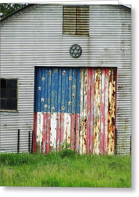 Todd Sherlock Greeting Cards - Flag Day 1951 Greeting Card by Todd Sherlock