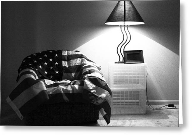 Flag Series No. 2 Greeting Card by Julia Pappas