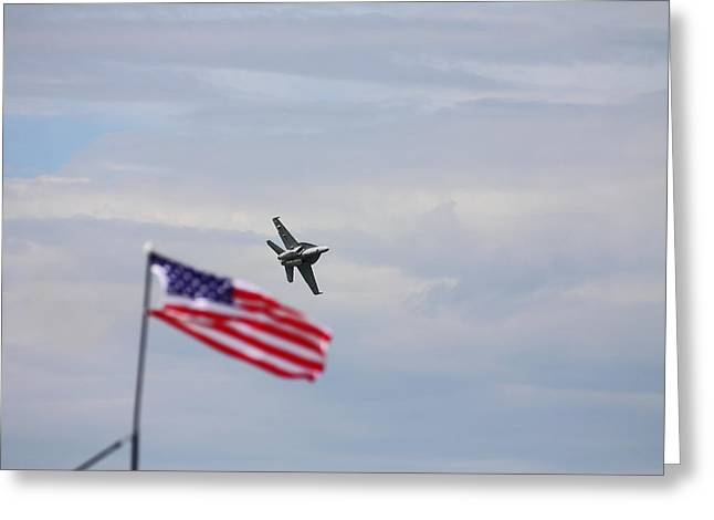 Kevin Schrader Greeting Cards - Flag Super hornet Greeting Card by Kevin Schrader